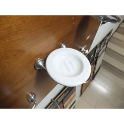 Porta sapone cr.sat. ceramica bianca