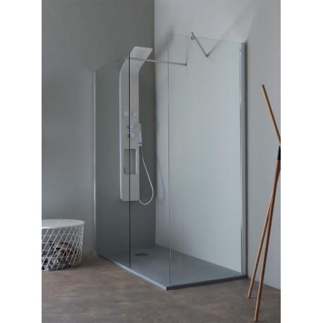 Parete doccia da 800 (780-800) Vetro temperato da 8 mm (trasparente) ReversibileTrattamento anticalcareAltezza 203
